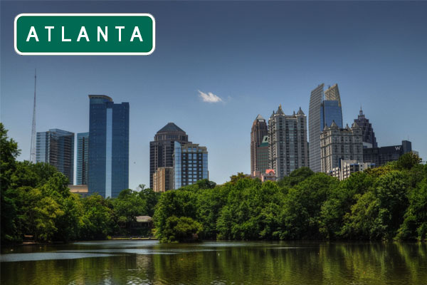 Atlanta Stadt in US